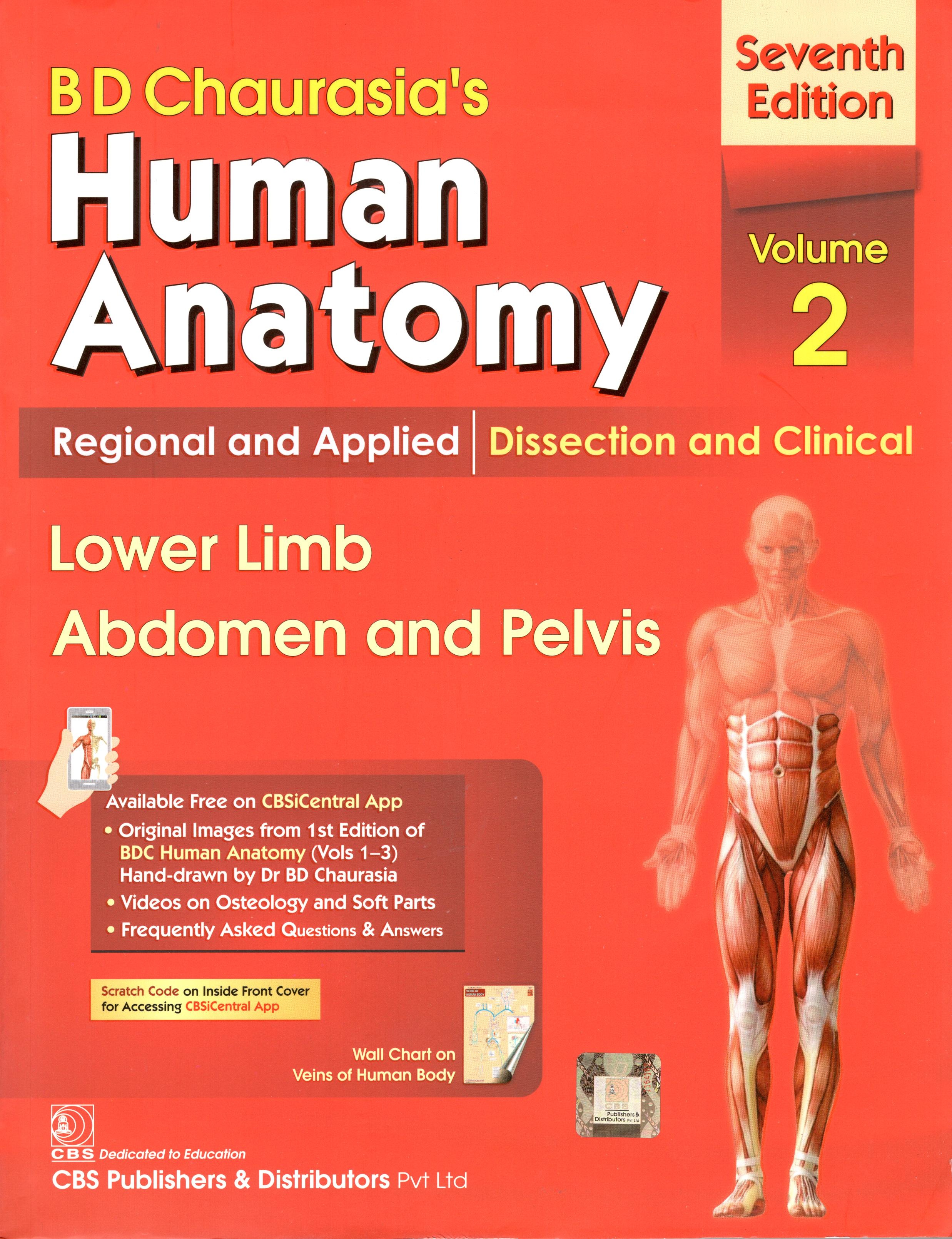 B. D. CHAURASIA`S HUMAN ANATOMY VOLUME 2- 8th EDT