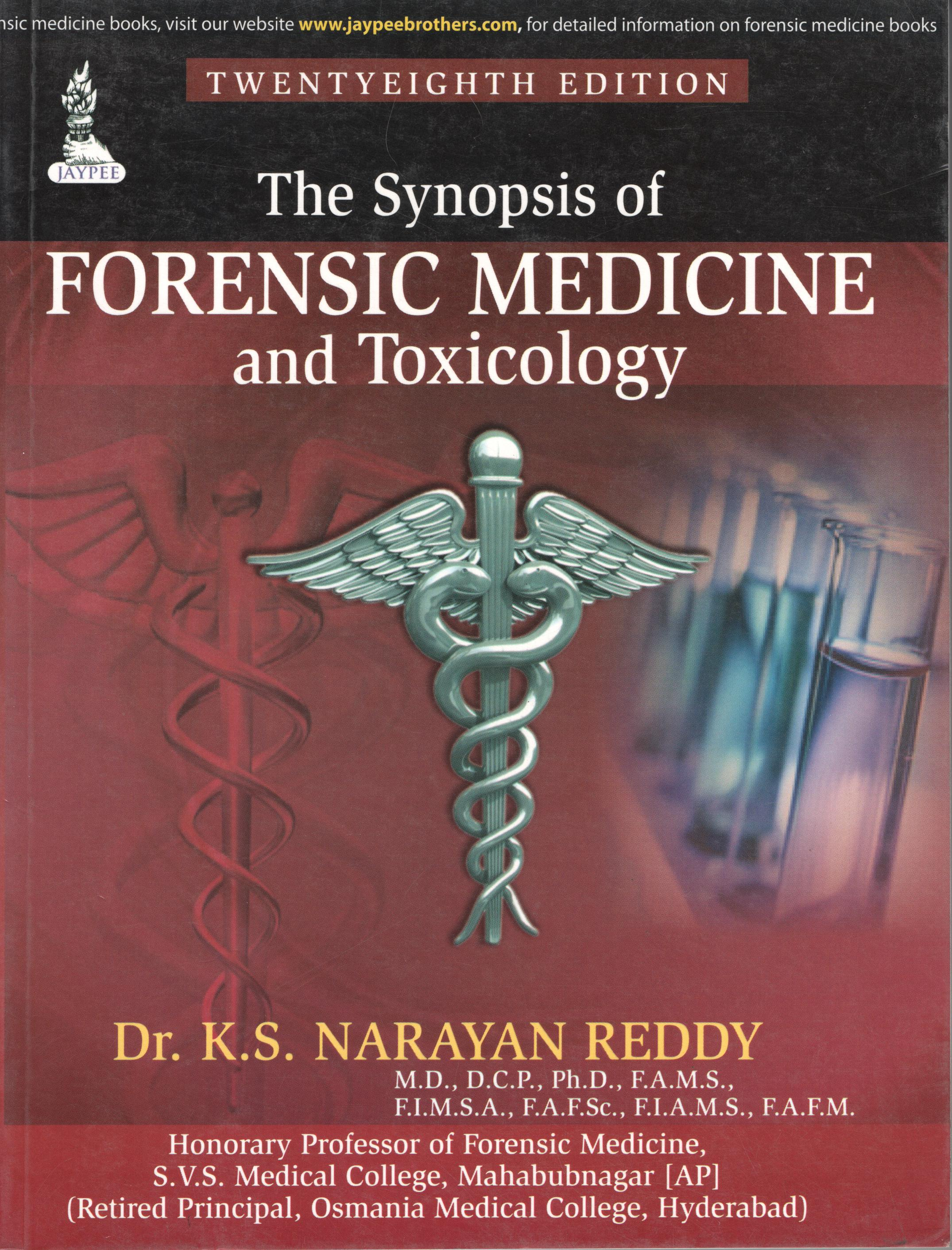 THE SYNOPSIS OF FORENSIC MEDICINE AND TOXICOLOGY