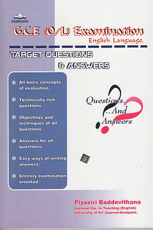 GCE O/L Examination English Language Target Questions & Answers