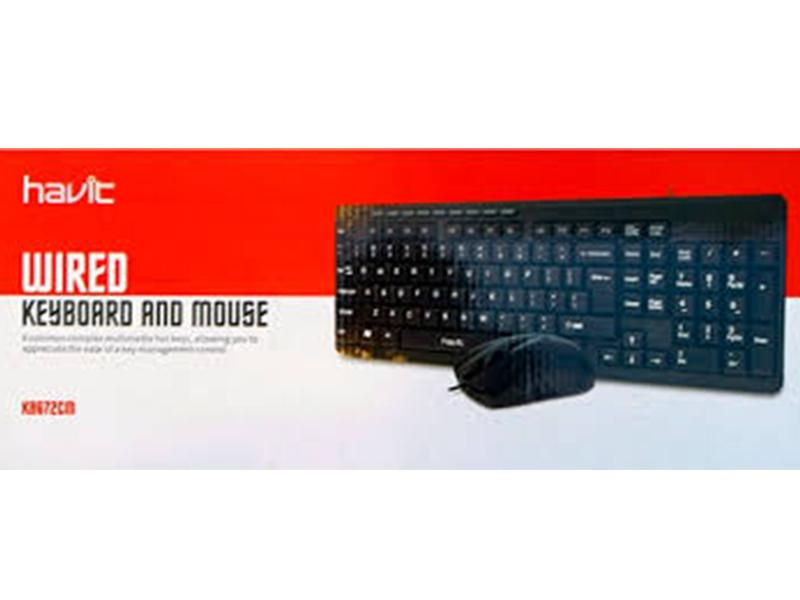 HAVIT WIRED COMBO KEY BOARD KBG72CM