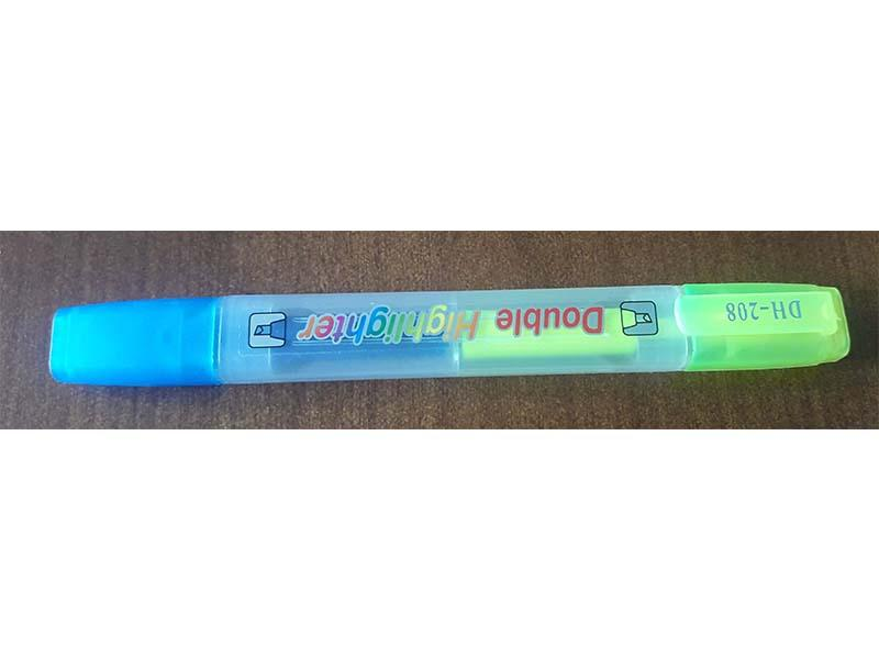 HIGHLIGHTER - DH-208 (DOUBLE COLOURS) - BLUE , YELLOW