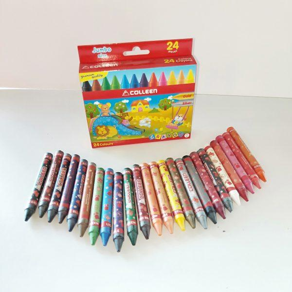 COLLEEN COLOR CRAYONS - 24 COLOURS