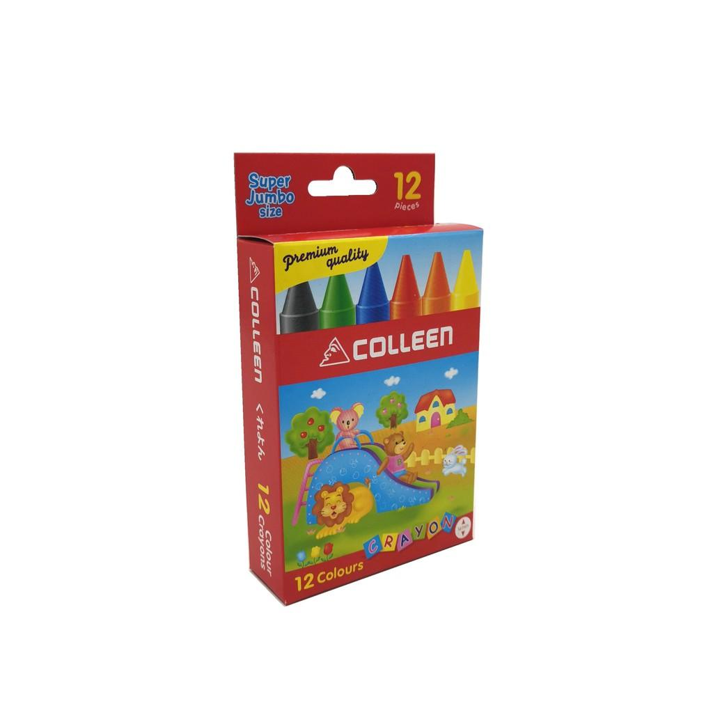 COLLEEN COLOR CRAYONS JUMBO- 12 COLOURS