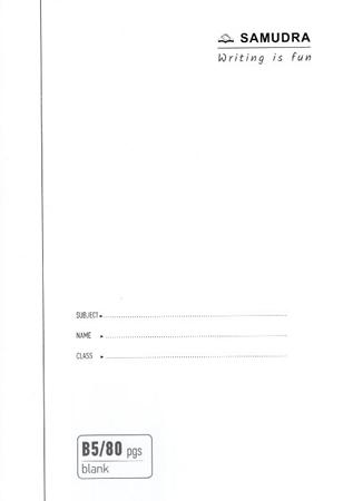 B5 BLANK BOOK 80PAGES - SBP