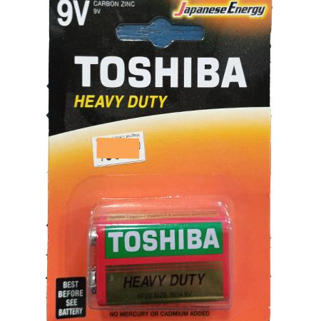 TOSHIBA BATTERIES - 9V HEAVY DUTY