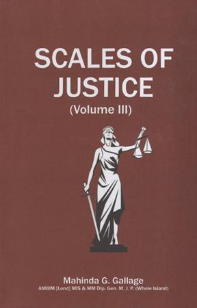 Scales of justice (Volume III)