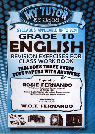 Grade 10 English Revision Exercises for class workbook - My tutor